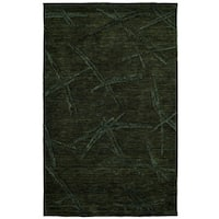 Dynamic Rugs Black Hand-tuffed Wool/Vicose Soho Rug - 8' X 11'