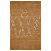Dynamic Rugs Soho Beige Wool/Viscose Hand-tufted Rug - 8' x 11'