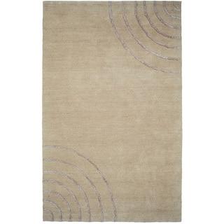 Soho Ivory 80%-percent Wool 20-percent Viscose Hand-tufted Rug (5' x 8' )