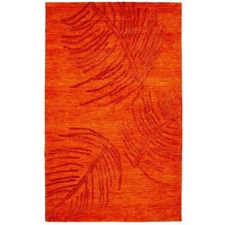 Dynamic Rugs Rust Hand-tuffed Wool/Vicose Soho Rug (5' x 8')