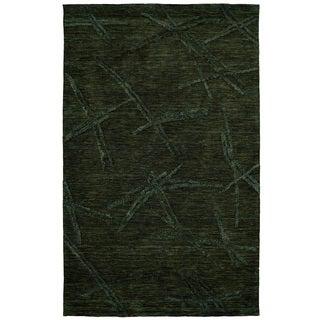 Dynamic Rugs Soho Charcoal Wool/Viscose Hand-tufted Rug (5' x 8')