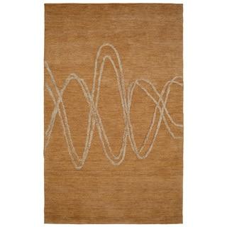 Dynamic Rugs Soho Beige Hand-tufted 80% Wool/20% Viscose Rug (5' x 8')