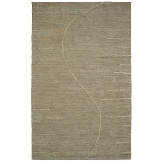Dynamic Rugs Soho Grey Wool and Viscose Hand-tufted Rug (5 x 8)
