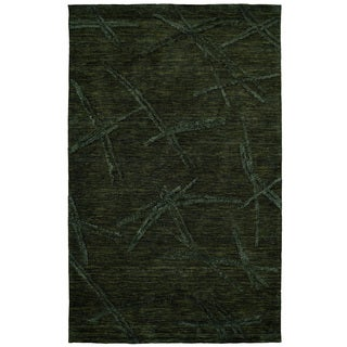 Dynamic Rugs Soho Charcoal Wool/Viscose Hand-tufted Area Rug (3'6 x 5'6)