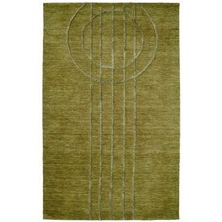Dynamic Rugs Soho Green Wool and Viscose Hand-tufted Rug (5 x 8)
