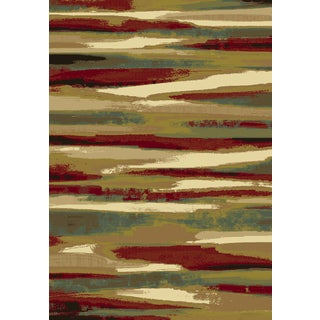 Dynamic Rugs Majestic Gold/Multicolor Viscose Machine-made Runner Rug (2.2 x 7.7)