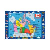 Fun Rugs Home Indoor Decorative Map of Canada Rug - multi