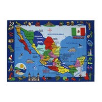 Fun Rugs Home Indoor/ Outdoor Map of Mexico Rug - multi