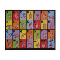 Fun Rugs Home Indoor Sign Language Rug  (5'3 x 6'6 )