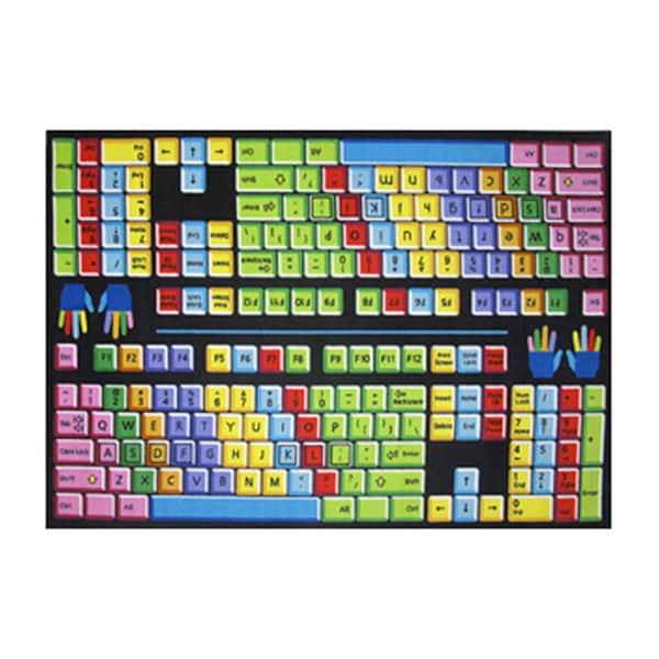Fun Rugs Hone Indoor Multi Color Keyboard Rug (5'3 x 7'6 )