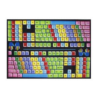 Fun Rugs Hone Indoor Multi Color Keyboard Rug  (5'3 x 7'6 )