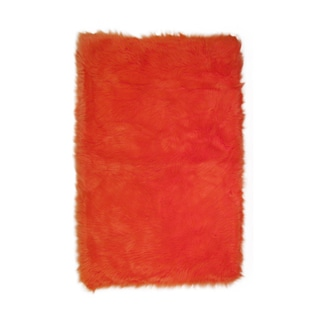 Fun Rugs Home Indoor/ Outdoor Orange Rug  (3'3 x 4'10 )