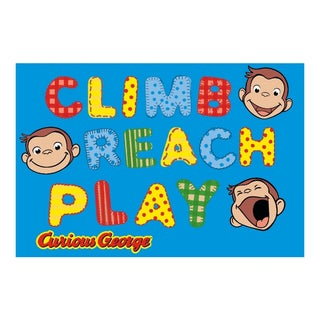 Fun Rugs George Climb Reach Play Rug  (5'3 x 6'6 )