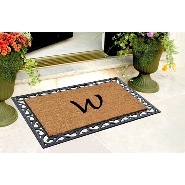 A1HC First Impression Rubber Monogrammed Tray Mat (24 x 36)