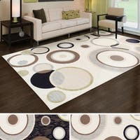 Superior Modern Ringoes Area Rug (8' x 10') - 8' x 10'