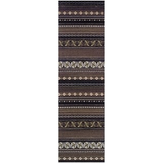 Superior Modern Twilight Brown Area Rug (2'7 x 8')