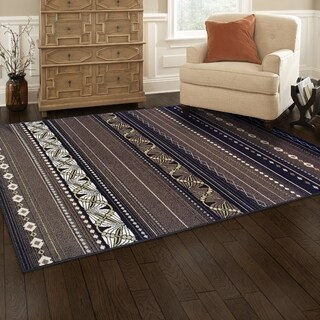 Superior Modern Twilight Brown Area Rug (8' x 10')