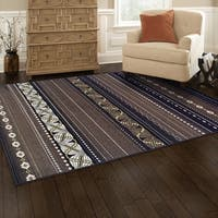 Superior Modern Twilight Brown Area Rug - 8' x 10'