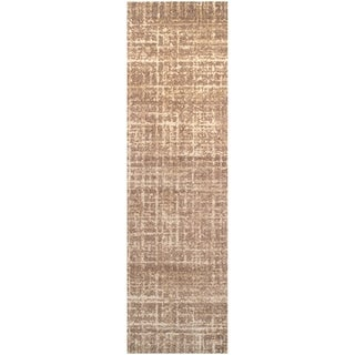 "Superior Designer Wheaton Brown Area Rug (2'3"" x 8')"