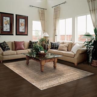 Superior Designer Wheaton Brown Area Rug (5' x 8')