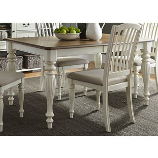 Cumberland Creek Nutmeg and White 40x78 Dinette Table