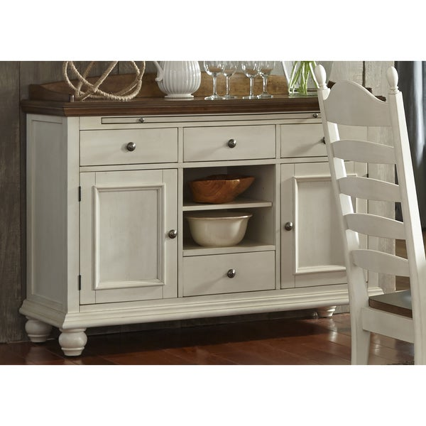 Springfield Farmhouse Two Toned Sideboard Free Shipping