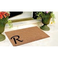 A1HC First impression Plain Coir Monogrammed Doormat (1'6 x 2'6)
