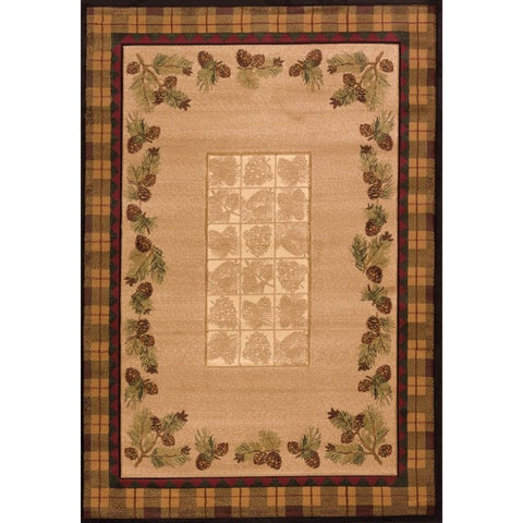 United Weavers Contours Winter Pines Toffee Polypropylene Area Rug (12'6 x 15') - 12' x 15'