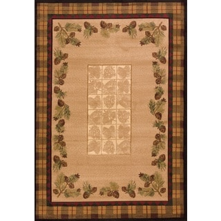 United Weavers Contours Winter Pines Toffee Polypropylene Area Rug (12'6 x 15')