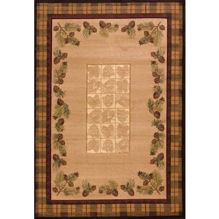 United Weavers Contours Winter Pines Toffee Polypropylene Area Rug - 12' x 15'