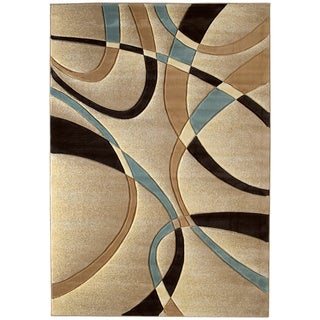 United Weavers Contours La-Chic Multicolored Polypropylene Area Rug (9'2 x 12'6)