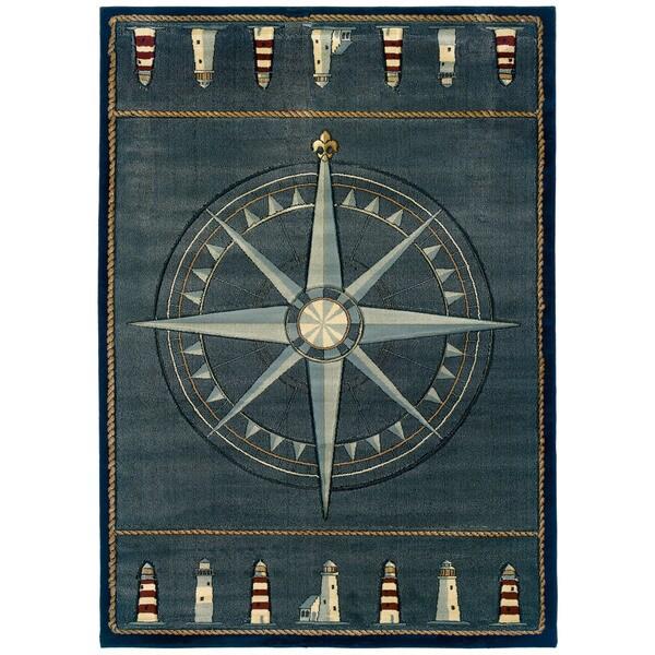 Shop United Weavers Contours Compass Rose/Blue