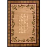 United Weavers Contours Winter Pines Toffee Area Rug (9'2 x 12'6) - 9'2 x 12'6