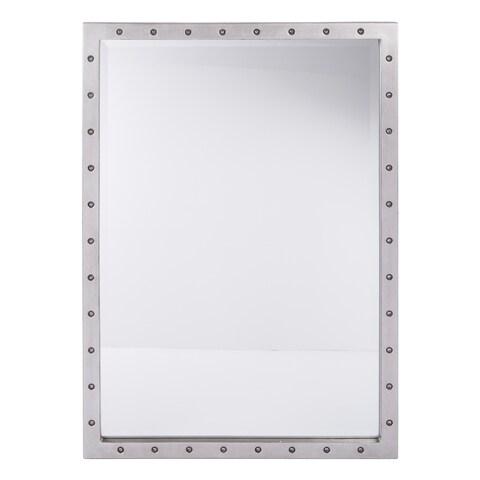 Reid Beveled Silver Finish Mirror