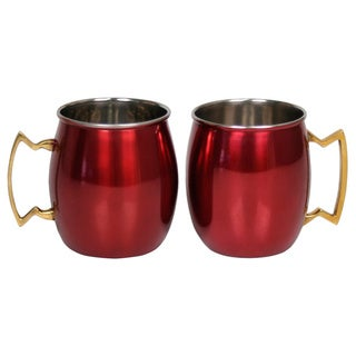 Stainless Steel 16-ounce Moscow Mule Mug (Set of 2)