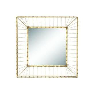 Benzara 24-inch Metal Glass Square Wall Mirror