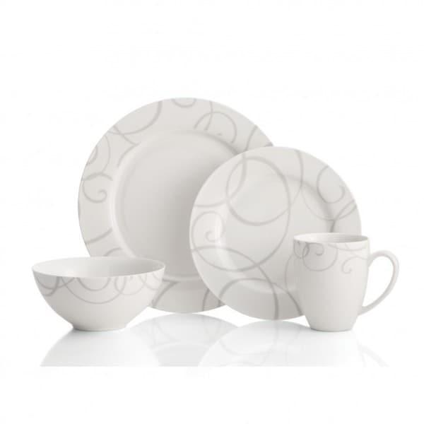Oneida Symphony 32-piece Grey Porcelain Dinnerware (Service for 8)  sc 1 st  Overstock.com & Oneida Symphony 32-piece Grey Porcelain Dinnerware (Service for 8 ...