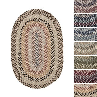 Vintage Farmhouse Multicolored Braided Reversible Rug USA MADE - 8' x 10'