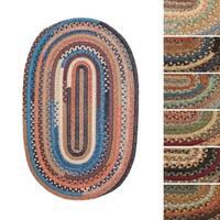 Alexandra Multicolored Braided Reversible Rug USA MADE