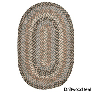 Colonial Mills Vintage Farmhouse Multicolor Polypropylene/Wool Blend Braided Oval Rug (2'x3')