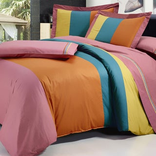 Serenta Multi-Colored Cotton 7 Piece Duvet Cover and Sheet Set