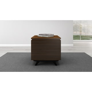 Furnitech Brown Wood 24-inch Mid-Century Modern End Table