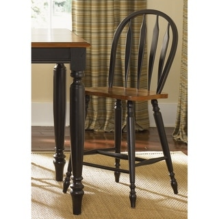 Farmhouse Country Anchor Black and Bronze Windsor Barstool