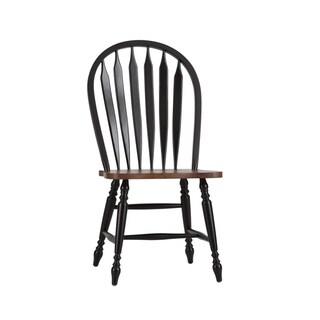 Havenside Home Palmer Black and Bronze Windsor Dining Chair