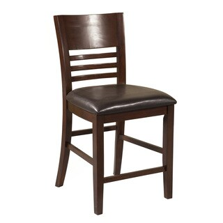Alpine Granada Merlot Ash and Birch Pub Chairs (Set of 2)