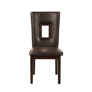 Alpine Segundo Espresso Leatherette Side Chairs (Set of 2)