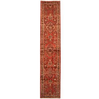 Herat Oriental Persian Hand-knotted Tribal Hamadan Wool Runner (2'9 x 13')