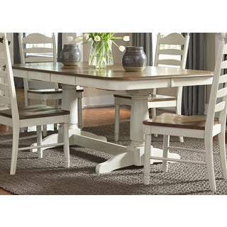 Springfield Farmhouse 42x102 Double Pedestal Dinette Table - Cream
