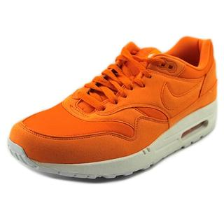 Nike Men's 'Air Max 1' Orange Synthetic Athletic Shoes