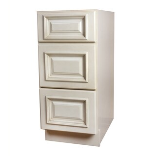 Tuscany White Wood 3-drawer Base Cabinet